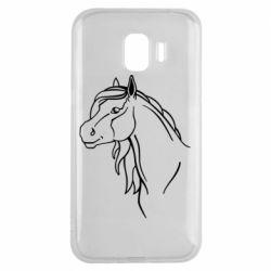 Чехол для Samsung J2 2018 Horse contour