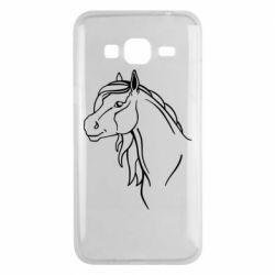 Чехол для Samsung J3 2016 Horse contour