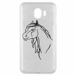 Чехол для Samsung J4 Horse contour