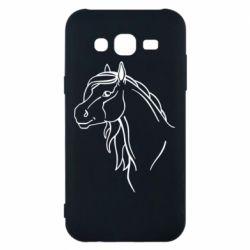 Чехол для Samsung J5 2015 Horse contour