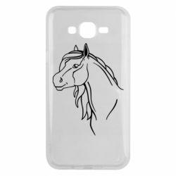 Чехол для Samsung J7 2015 Horse contour