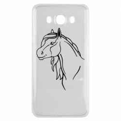 Чехол для Samsung J7 2016 Horse contour