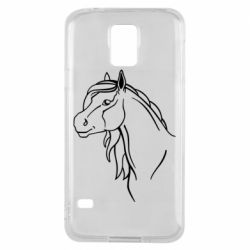 Чехол для Samsung S5 Horse contour