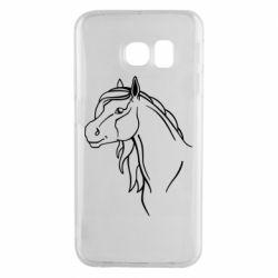 Чехол для Samsung S6 EDGE Horse contour
