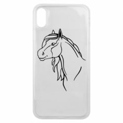 Чехол для iPhone Xs Max Horse contour