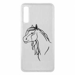 Чехол для Samsung A7 2018 Horse contour