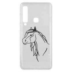 Чехол для Samsung A9 2018 Horse contour