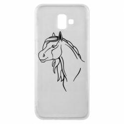 Чехол для Samsung J6 Plus 2018 Horse contour