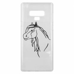 Чехол для Samsung Note 9 Horse contour