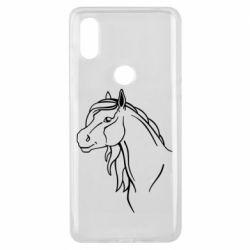 Чехол для Xiaomi Mi Mix 3 Horse contour