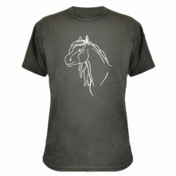 Камуфляжная футболка Horse contour