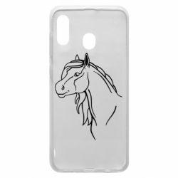 Чехол для Samsung A20 Horse contour