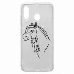 Чехол для Samsung A30 Horse contour