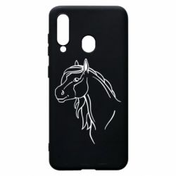 Чехол для Samsung A60 Horse contour
