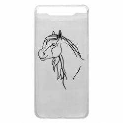 Чехол для Samsung A80 Horse contour
