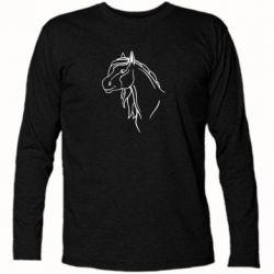 Футболка с длинным рукавом Horse contour