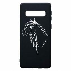 Чехол для Samsung S10 Horse contour