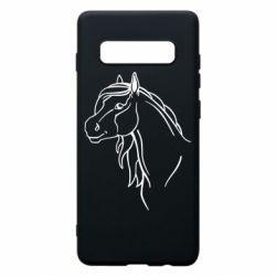 Чехол для Samsung S10+ Horse contour