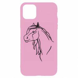 Чехол для iPhone 11 Horse contour