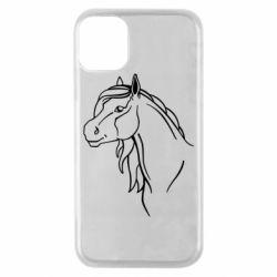 Чехол для iPhone 11 Pro Horse contour