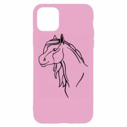 Чехол для iPhone 11 Pro Max Horse contour