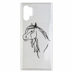 Чехол для Samsung Note 10 Plus Horse contour