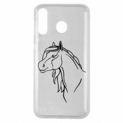 Чехол для Samsung M30 Horse contour