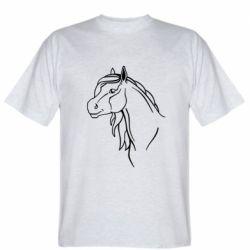 Мужская футболка Horse contour