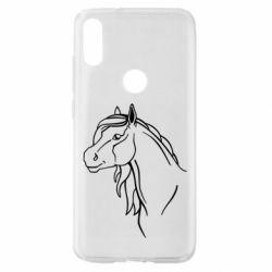 Чехол для Xiaomi Mi Play Horse contour