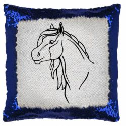 Подушка-хамелеон Horse contour