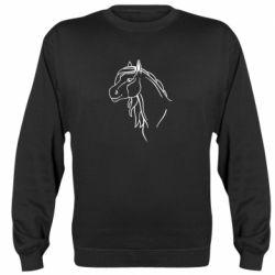 Реглан (свитшот) Horse contour