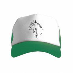 Детская кепка-тракер Horse contour