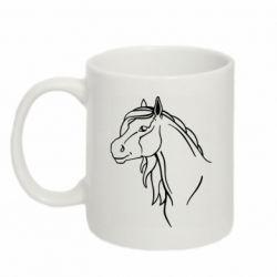 Кружка 320ml Horse contour