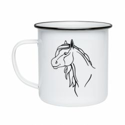 Кружка эмалированная Horse contour
