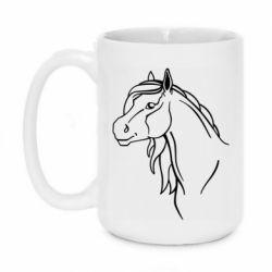 Кружка 420ml Horse contour