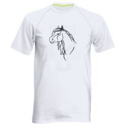 Мужская спортивная футболка Horse contour
