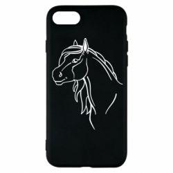 Чехол для iPhone 7 Horse contour