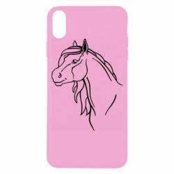 Чехол для iPhone X/Xs Horse contour