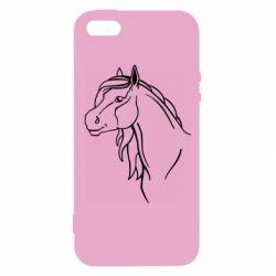 Чехол для iPhone5/5S/SE Horse contour
