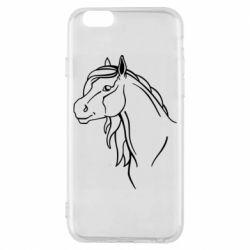 Чехол для iPhone 6/6S Horse contour