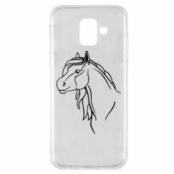 Чехол для Samsung A6 2018 Horse contour