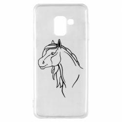 Чехол для Samsung A8 2018 Horse contour