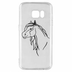 Чехол для Samsung S7 Horse contour