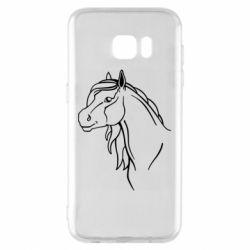 Чехол для Samsung S7 EDGE Horse contour