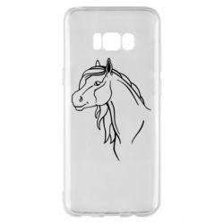 Чехол для Samsung S8+ Horse contour