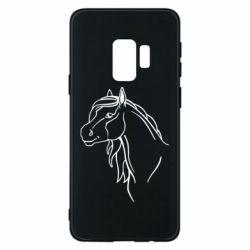 Чехол для Samsung S9 Horse contour