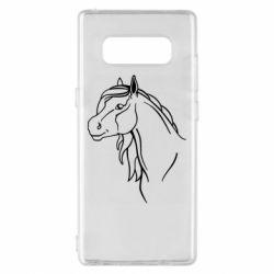 Чехол для Samsung Note 8 Horse contour