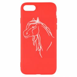 Чехол для iPhone 8 Horse contour