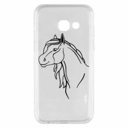 Чехол для Samsung A3 2017 Horse contour