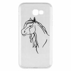 Чехол для Samsung A7 2017 Horse contour